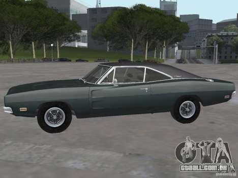 Dodge Charger 1969 para GTA San Andreas traseira esquerda vista