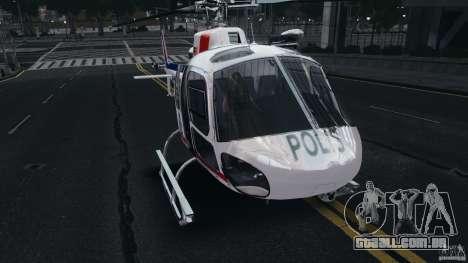 Eurocopter AS350 Ecureuil (Squirrel) Malaysia para GTA 4 esquerda vista