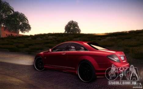 Mercedes Benz CL65 AMG para GTA San Andreas esquerda vista