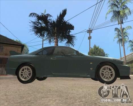 Nissan Skyline GT-R BNR33 para GTA San Andreas traseira esquerda vista