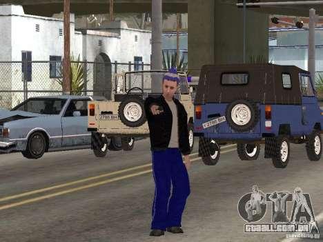 Gopnik peles para GTA San Andreas quinto tela