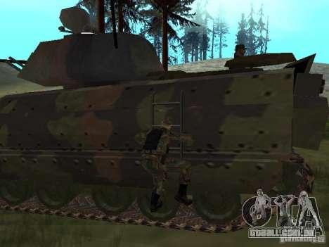M2A3 Bradley para GTA San Andreas vista traseira