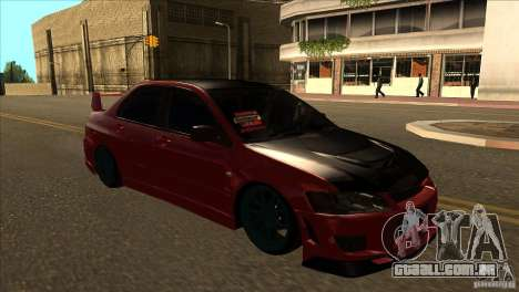 Mitsubishi Lancer Evo 8 Street Drift para GTA San Andreas vista traseira
