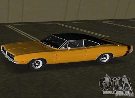 Dodge Charger RT 1969 para GTA Vice City deixou vista