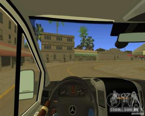 Mercedes Benz Sprinter NYPD police para GTA San Andreas vista interior
