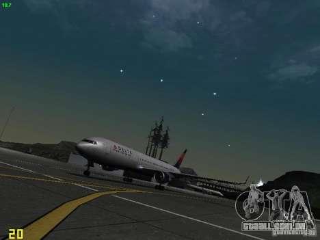 Boeing 767-400ER Delta Airlines para GTA San Andreas esquerda vista