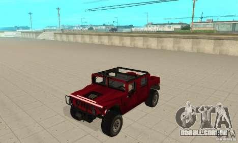 Hummer Civilian Vehicle 1986 para GTA San Andreas