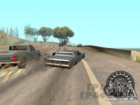 Velocímetro Audi para GTA San Andreas por diante tela