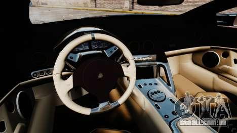 Lamborghini Reventon Roadster 2009 para GTA 4 vista de volta