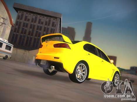 Mitsubishi Lancer Evo X Tunable para vista lateral GTA San Andreas