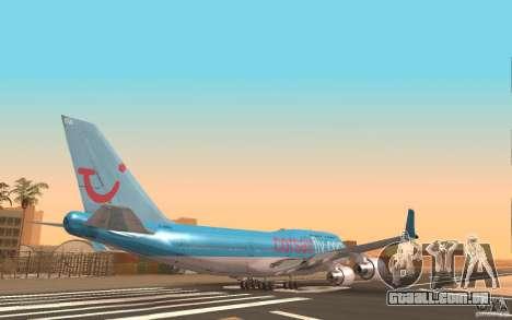 Boeing-747 Corsair Fly para GTA San Andreas traseira esquerda vista