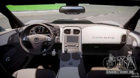 Chevrolet Corvette ZR1 2009 v1.2 para GTA 4 vista de volta