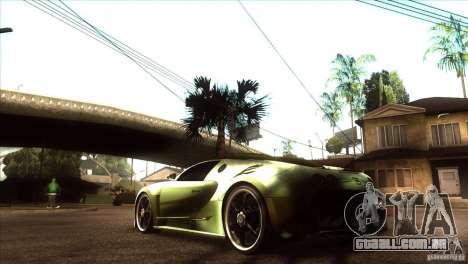 Bugatti Veyron Life Speed para GTA San Andreas traseira esquerda vista