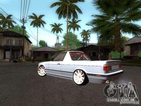 BMW E34 Pickup para GTA San Andreas traseira esquerda vista
