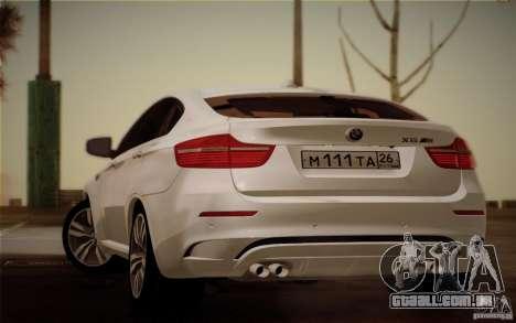 BMW X6M E71 para GTA San Andreas esquerda vista