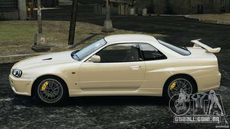 Nissan Skyline GT-R R34 2002 v1.0 para GTA 4 esquerda vista
