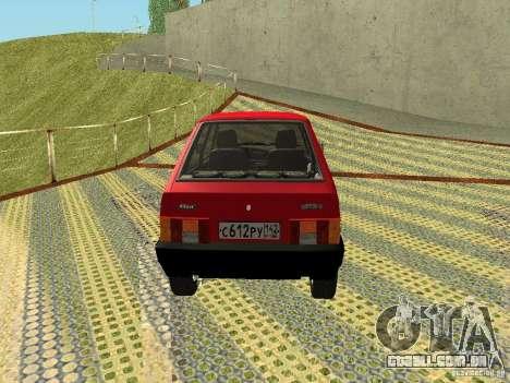 2109 VAZ v2 para GTA San Andreas vista direita