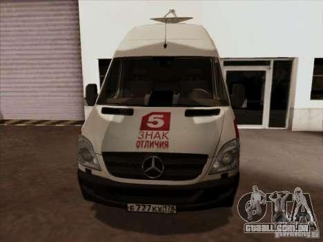 Mercedes-Benz Sprinter 5 canal para GTA San Andreas esquerda vista