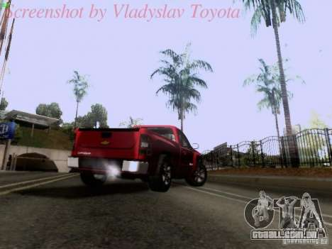 Chevrolet Cheyenne Single Cab para vista lateral GTA San Andreas