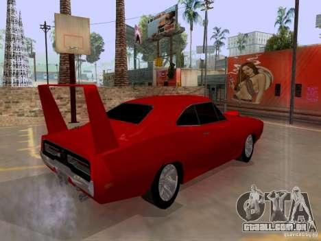 Dodge Charger Daytona 440 para GTA San Andreas traseira esquerda vista