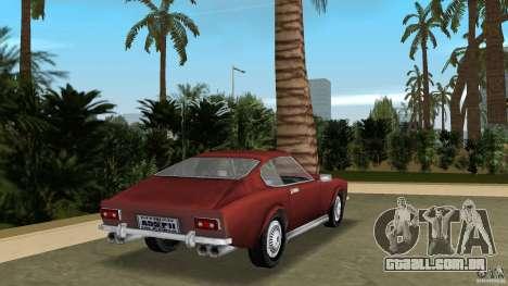 Aston Martin V8 Vantage 5.3 1969-1989 para GTA Vice City vista traseira esquerda