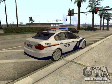 BMW 3 Series China Police para GTA San Andreas vista traseira