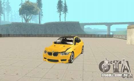 BMW M3 2008 para GTA San Andreas vista superior