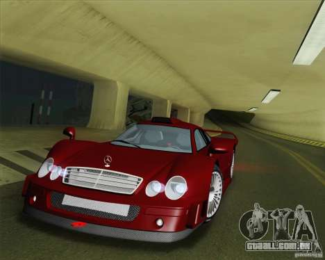 Mercedes-Benz CLK GTR Race Road Version Stock para GTA San Andreas vista superior