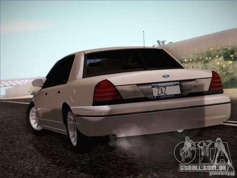 Ford Crown Victoria Interceptor para GTA San Andreas vista direita