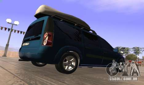 Lada Largus para GTA San Andreas traseira esquerda vista