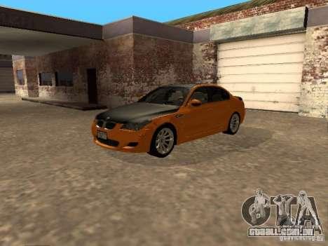 BMW M5 E60 2009 v2 para GTA San Andreas vista direita