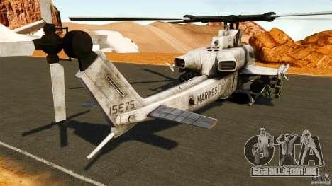 Bell AH-1Z Viper para GTA 4 traseira esquerda vista