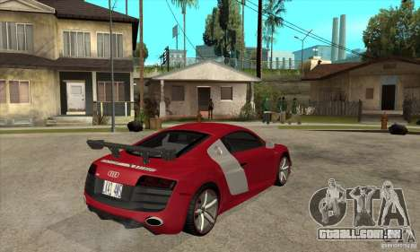 Audi R8 V10 v2 para GTA San Andreas vista direita