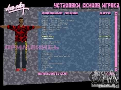 Pack de skins para o Tommy para GTA Vice City twelth tela