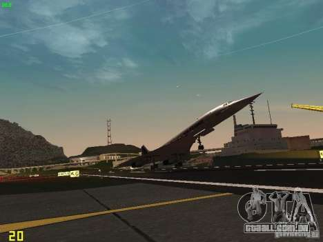 Aerospatiale-BAC Concorde Air France para GTA San Andreas vista interior