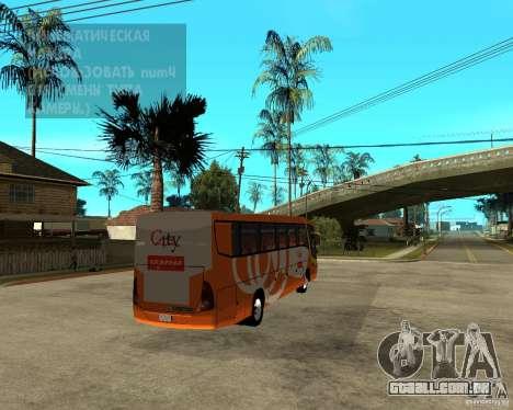 Cidade Express Bus da Malásia para GTA San Andreas traseira esquerda vista