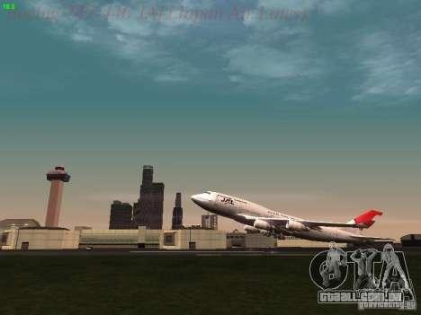 Boeing 747-446 Japan-Airlines para vista lateral GTA San Andreas