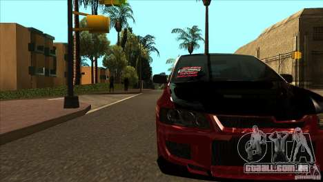 Mitsubishi Lancer Evo 8 Street Drift para GTA San Andreas vista interior