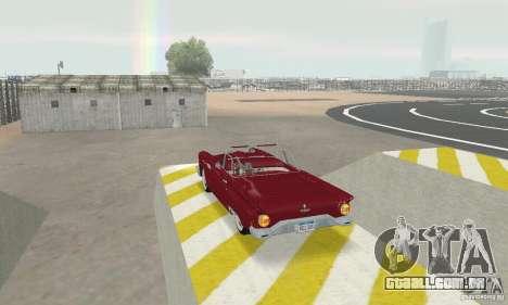 Ford Thunderbird 1957 para GTA San Andreas traseira esquerda vista