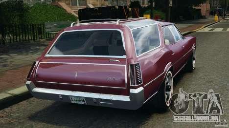 Oldsmobile Vista Cruiser 1972 v1.0 para GTA 4 traseira esquerda vista