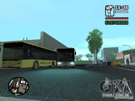 LAZ InterLAZ 12 para GTA San Andreas vista traseira