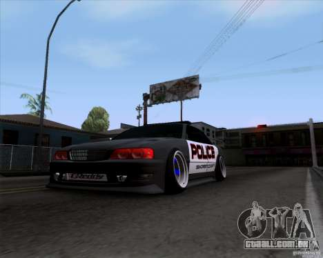 Toyota Chaser jzx100 Drift Police para GTA San Andreas