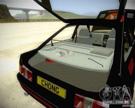 Ford Sierra RS500 Race Edition para GTA San Andreas vista interior