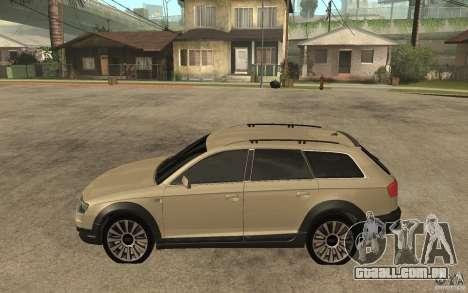 Audi Allroad Quattro para GTA San Andreas esquerda vista