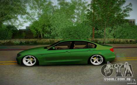 BMW 3 Series F30 Stanced 2012 para GTA San Andreas esquerda vista