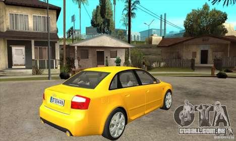 Audi S4 2004 para GTA San Andreas vista direita