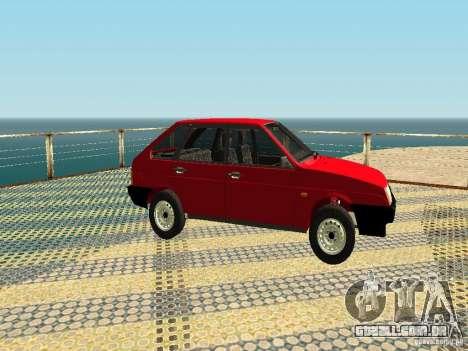 2109 VAZ v2 para GTA San Andreas traseira esquerda vista