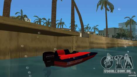 San Andreas Coast Guard para GTA Vice City vista traseira esquerda