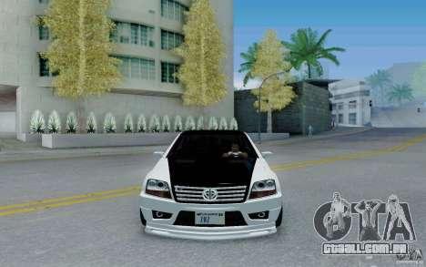Benefactor Serrano Modder para GTA San Andreas vista traseira