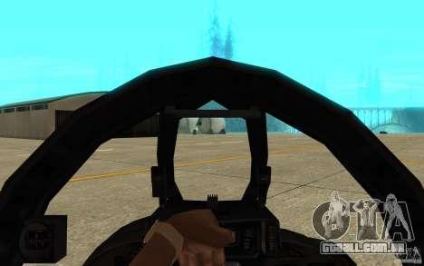 F-14 Tomcat Blue Camo Skin para GTA San Andreas vista interior